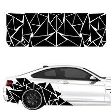 1pcs Car Side Body Geometric Triangle Pattern Vinyl Sticker 200x60cm Universal Ebay