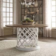moroccan trellis drum dining table