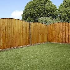 Waltons 5 X 6 Pressure Treated Vertical Feather Edge Curved Wooden Fence Panel Wooden Fence Panels Wooden Fence Fence Panels