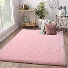 Amazon Com Pink Rugs Kids Room Decor Home Kitchen