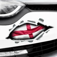 Torn Ripped 3d Effect England Flag Novelty Car Bumper Vinyl Decal Sticker Ebay