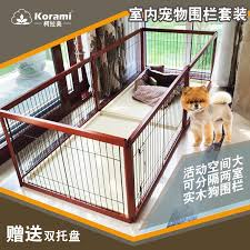 Solid Wood Indoor Dog Fence Large Medium And Small Dog Dog Cage Female Cage Fa Doo Kirkie Wooden Breeding Cage Set