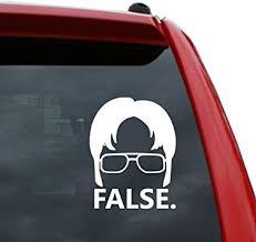 Amazon Com Black Heart Decals More Dwight Schrute False Vinyl Decal Sticker Color White 5 Tall Automotive
