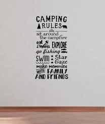 Camping Rules Subway Art Wall Decals Sticker Camper Rv Camp Quote Saying 37x20 Ebay