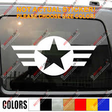 Army Star Air Force Navy Military Vinyl Car Decal Bumper Sticker Choose Size And Color Bumper Sticker Army Starvinyl Car Decal Aliexpress