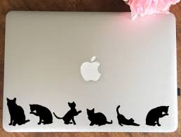 Cat Stickers Silhouette Cat Shaped Vinyl Removable Decals Laptop Car Home Amys Wallsticker World On Madeit