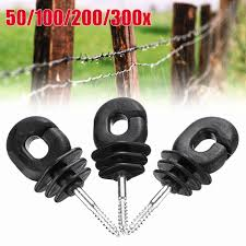 50 Pcs 4 Screw In Electric Fence Wood Timber Post Insulators Tape Cord Wire Fencing Trellis Gates Aliexpress