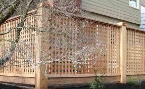 Square Wood Lattice Panels Square Lattice Lattice Deck Fence Design