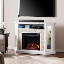 white corner fireplace tv stands