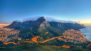 cape town at dusk by microsoft