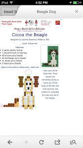 awww it's a cute Beagle | Beaded keychains, Pony beads, Beaded animals