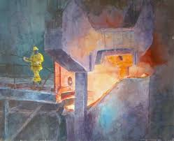 Pin by Adeline Rogers on Art Deco | Painting, Art, Steel mill