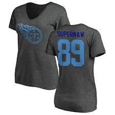 Phillip Supernaw Tennessee Titans Women's Pro Line by Branded One Color  T-Shirt - Ash
