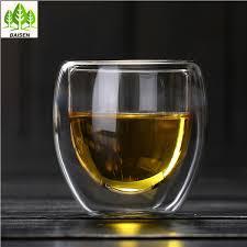 borosilicate glass mugs double wall