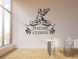 Vinyl Wall Decal Italian Cuisine Olive Food Italy Restaurant Stickers Wallstickers4you