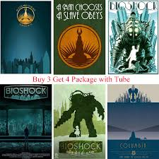 Bioshock Game Posters Movie Wall Stickers White Coated Paper Prints Clear Image Home Decoration Bar Home Art Brand Home Art Game Posterwall Sticker Aliexpress