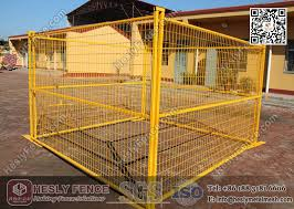 Yellow Color Temporary Construction Fencing Panels 6ft X 8ft Heslyfence