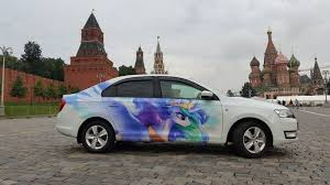 1232730 Artist Cannibalus Car Decal Irl Itasha Kremlin Moscow Photo Princess Celestia Red Square Russia Safe Skoda Skoda Rapid St Basil S Cathedral Derpibooru