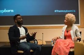 Wesley Morris and Margo Jefferson sitting at front of conference room] -  The Portal to Texas History