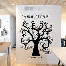 Fruit Of The Spirit Tree Wall Decal From Grand Rapids Vinyl