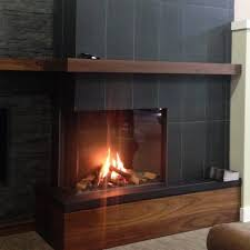 2 sided fireplace modern gas fireplace