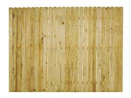 Whitewood Dog Ear Privacy Fence Panel