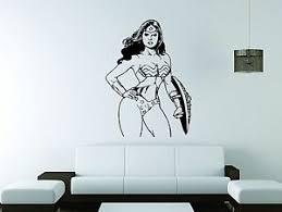 Wonder Woman Wall Mural Vinyl Decal Sticker Decor Comics Super Hero Girl Movie Ebay