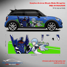 Neon Genesis Evangelion Itasha Anime Style Side Graphic Decals