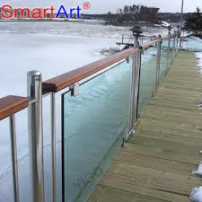 deck railing frosted glass