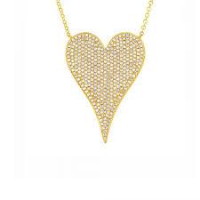 london 14k gold heart pendant necklace