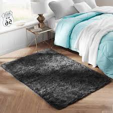 college dorm plush rug charcoal gray