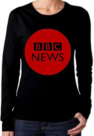 BBC News Women's Classic-Fit Long-Sleeve Crewneck Cotton Graphic Top Tee T- Shirt at Amazon Women's Clothing store