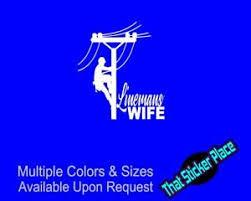 Linemans Wife Electrician Vinyl Decal Power Work Sticker Truck Car Lineman Ebay