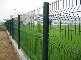 wire fence panel galvanized or pvc