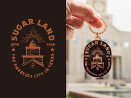 sugar land badge design keychain by
