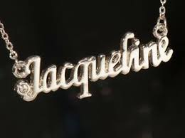 jacqueline name necklace with