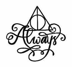 Harry Potter Deathly Hallows Always Vinyl Decal Sticker Glass Etsy