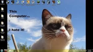 grumpy cat screensaver posted by ryan