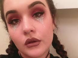 glitter tears your festival makeup