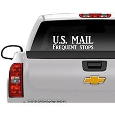 Amazon Com Thatlilcabin U S Mail Frequent Stops 18 Long Car Window Decal Sticker As1435 Automotive