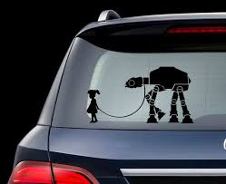 Star Wars A Girl And Her At At Walker Decal For Laptop Car Etsy