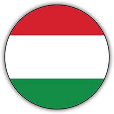 Amazon Com Hungary Round Flag Car Bumper Sticker Decal 12 X 12 Kitchen Dining