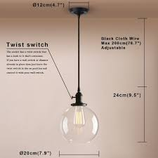 industrial style pendant light with