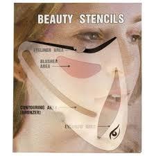 1pc face makeup stencils eyebrow
