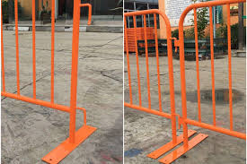 Steel Construction Crowd Control Fencing Panel Crowd Safety Barriers