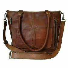 satchel handbag genuine leather tote