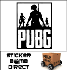 Playerunknown S Battlegrounds Decal Pubg Logo Sticker Pvp Twitch Popular Loot Ebay