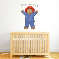 Wall Decals Stickers Baby Paddington Bear Wall Decal Time For Bed Sticker Kids Art Bedroom Nursery Home Furniture Diy Tallergrafico Com Uy