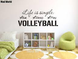Life Is Simple Eat Sleep Play Volleyball Wall Art Stickers Wall Decals Home Diy Decoration Removable Room Decor Wall Stickers Wall Stickers Aliexpress