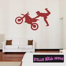 Dirt Bike Motorcycle Motocross Moto Vinyl Wall Decal Car Sticker Dirtbikesst007 Swd